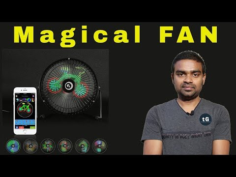 Magical FAN - Colorful Display Bluetooth Android iOS App Control FAN - Best Gift for You