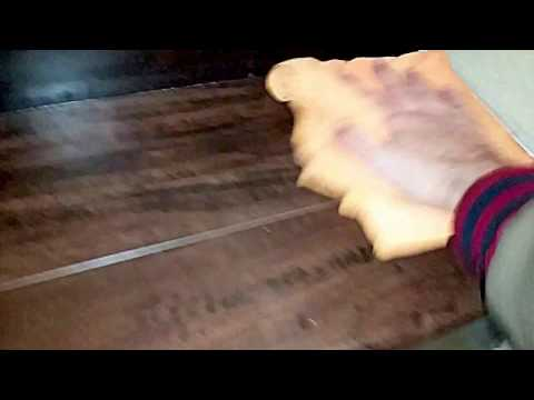 Using Vinegar + Olive Oil As A Natural Wood Polisher & Finisher On Hardwood Stairs