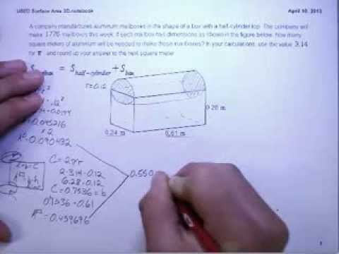Surface Area Cylinder & Rectangular Prism