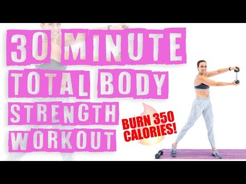 30 Minute At Home Total Body Strength Workout 🔥Burn 350 Calories! 🔥