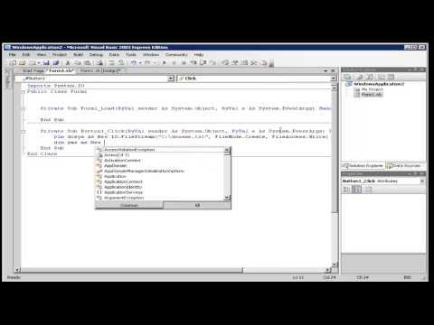 Vb.Net File Stream Example Tutorial
