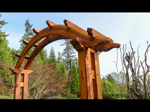 Arched Pergola, Building Time Lapse