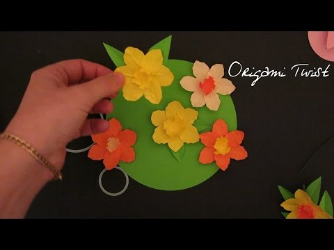HOW TO MAKE PAPER FLOWERS DAFFODILS