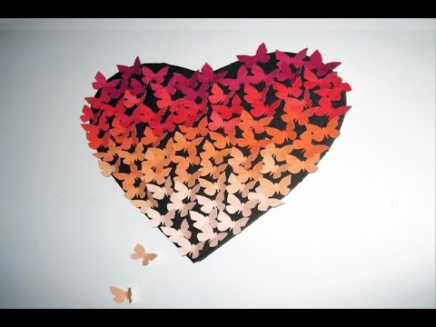 Art Lesson: How To Create an Ombre Heart Butterfly Canvas