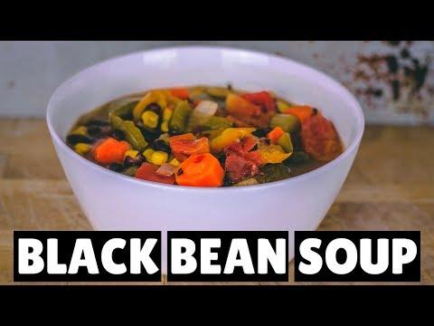 Black Bean Soup Recipe | InstantPot Recipe | Oil-Free | Vegan