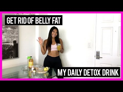 Get RID Of Belly Fat | My Daily Detox Drink Recipe