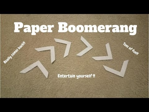 How to make Paper Boomarang   Origami Step by Step tutorial