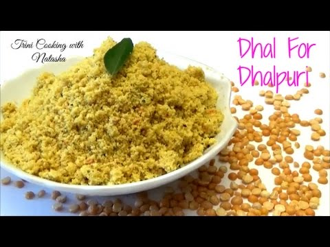 How to Grind Dhal for Dhalpuri in a Food Processor - Episode 397