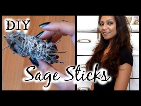 DIY Sage Smudge Sticks │ How to Make Sage Bundles for Cleansing Your Home, Removing Negative Energy