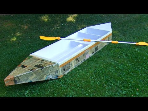 How to build a durable cardboard boat