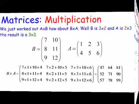 Matrices: Multiplication