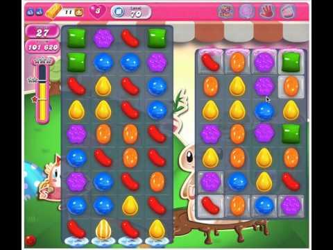 Candy Crush Saga Level 70 - 3 Stars No Boosters
