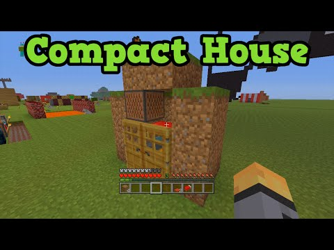 Minecraft Xbox 360 + PS3 Smallest House - Compact House Design