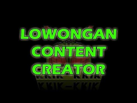 LOWONGAN CONTENT CREATOR