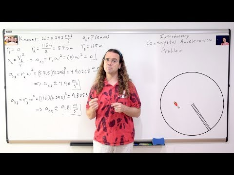 Introductory Centripetal Acceleration Problem - Cylindrical Space Station