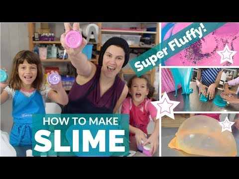How to Make Slime! Fluffy DIY Makes the Best Giant Slime Bubbles