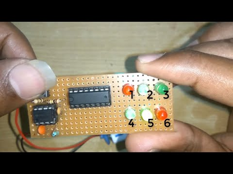 Circuit Diagram of LED Digital Dice | Unbiased Electronic Dice with LEDs | MAKELOGY