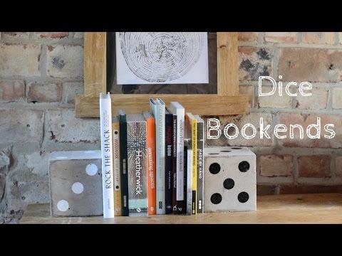 Concrete Dice Bookends