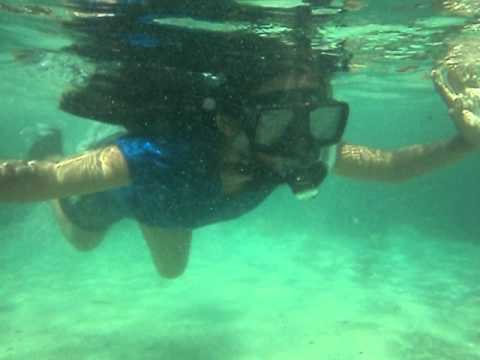 Nadia's snorkeling at Snake Island, Palawan