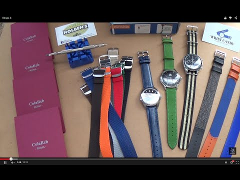 Watch Strap Changing Guide - New Luxury Watch Straps From Colareb Roma - Wrist Candy Perlons Review