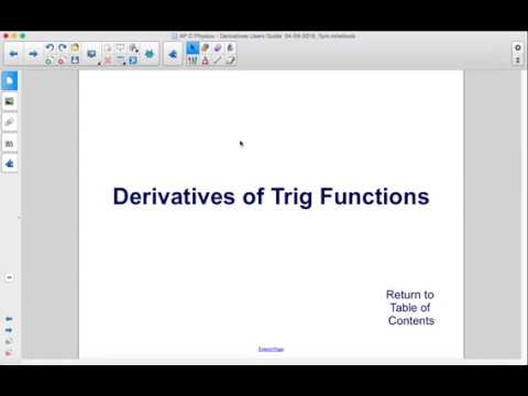 AP Physics C Calculus Derivatives Derivatives of Trig Functions