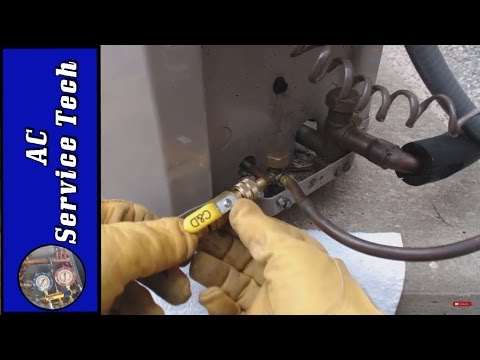 Leaking Refrigerant! Replace the Leaky Schrader Valve without Removing the Refrigerant! Shown!
