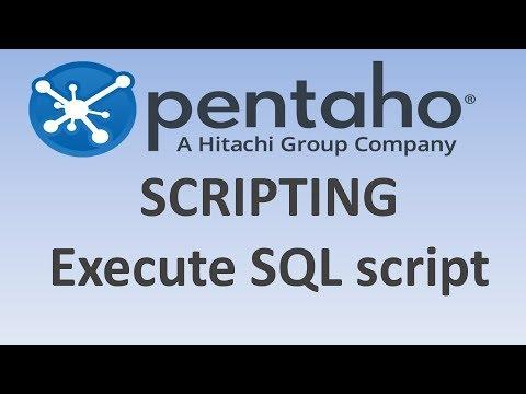 11.2. SCRIPTING   /  EXECUTE SQL SCRIPT