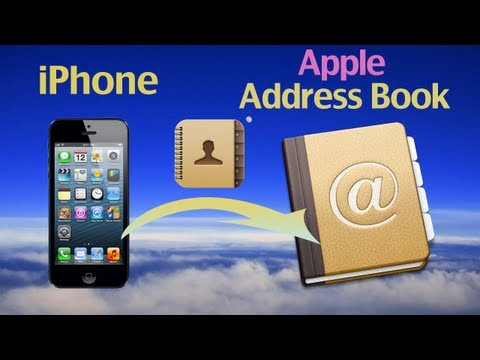 How to export iPhone 5/4S/4 contacts to Apple Address book by iPhone Contacts Backup Mac