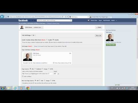 How to add a URL tab to Facebook page