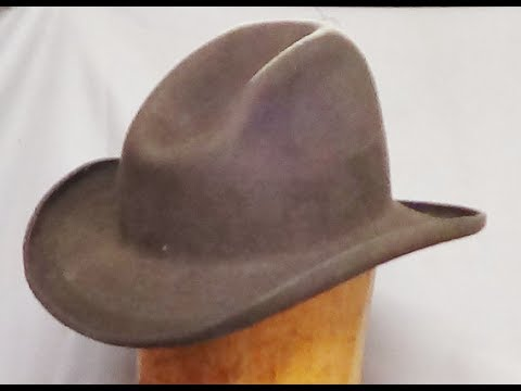 How to Make a Cowboy Hat with no mechanization....Step 1