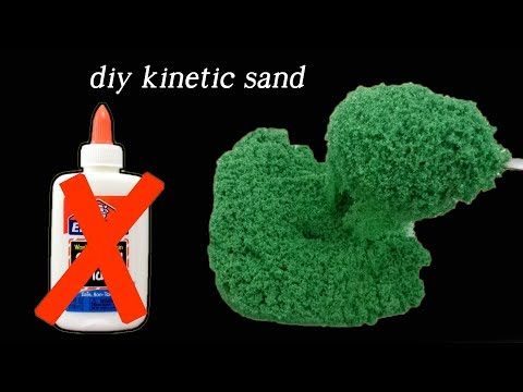 DIY Kinetic Sand Without Glue I Testing New Recipes