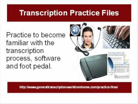 Transcription practice files