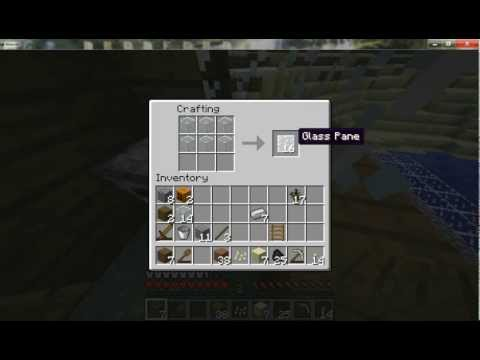 MINECRAFT - HOW TO MAKE GLASS BLOCK AND GLASS PANE IN MINECRAFT