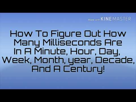 HOW MANY MILLISECONDS ARE IN A MINUTE, HOUR, DAY, WEEK, MONTH, YEAR, DECADE AND A CENTURY!