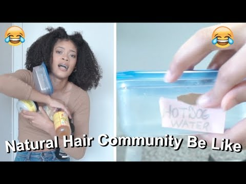 The Natural Hair Community Be Like