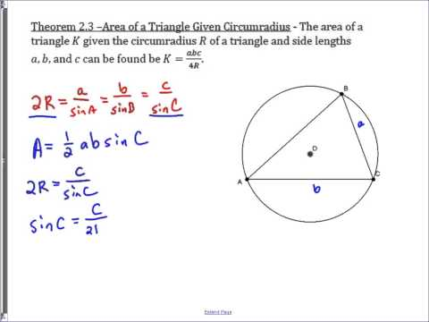 Area of a Triangle and Radius of its Circumscribed Circle
