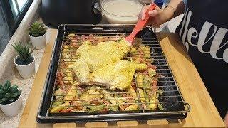 #x202b;دجاج مشوي / أروع وصفة للدجاج بالفرن بتتبيلة مميزة وطعم رهيييب😍👌/ دجاج محمر#x202c;lrm;