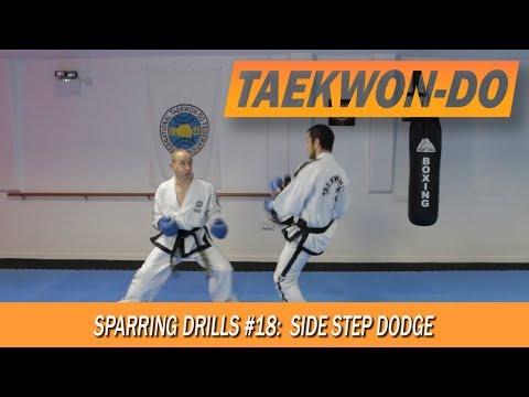 Taekwon-Do Sparring Drills #18: Side Step Dodge