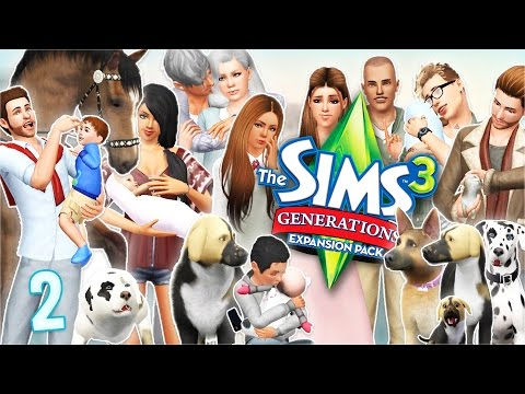 Let's Play: The Sims 3 Generations and Pets   Part 2 - Moonlight Engagement