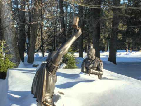 Winter Scenes - Stations of the Cross at the National Shrine