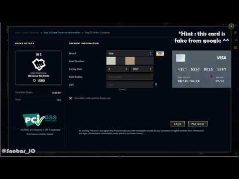How to Buy RP ( Riot Points ) by VISA - League of Legends