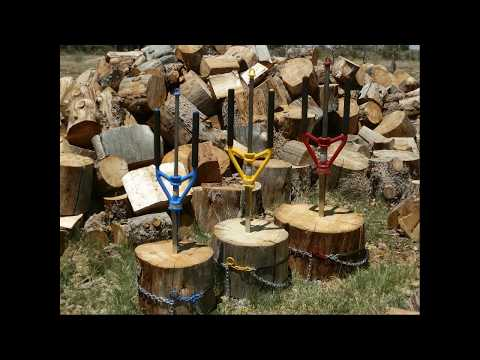 All Tie Anchor with Splitz All Manual Wood Splitter - How to split firewood safely - Good N Useful