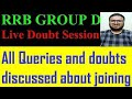 Download RRB GROUP D JOINING LATEST UPDATE & DOUBT SESSION BY SANOJ S MP3,3GP,MP4