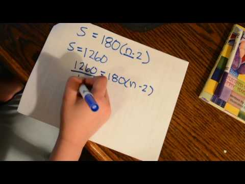 How to find the number of sides in a convex polygon when given it's interior angles