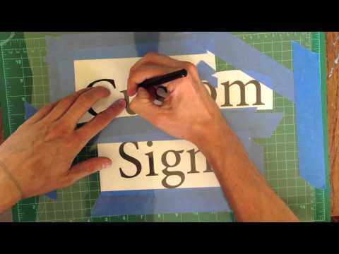 DIY: How to Make a Stencil and Paint Custom Signs