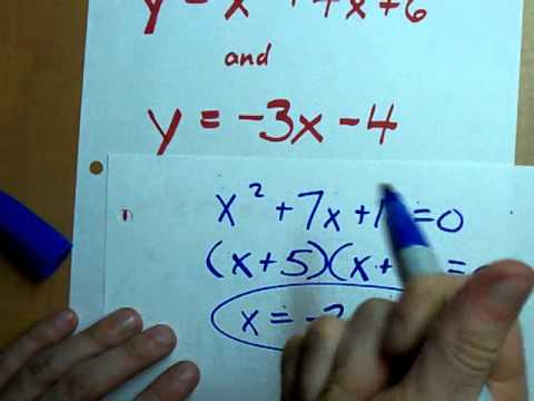 Intersection of Parabola and Line - 2 solutions!