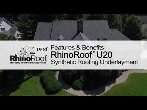 Roofing Product Guide: RhinoRoof® U20 Synthetic Underlayment