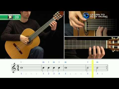 Ex009 How to Play Classical Guitar for Kids - Classical Guitar Lessons for Kids Book 1
