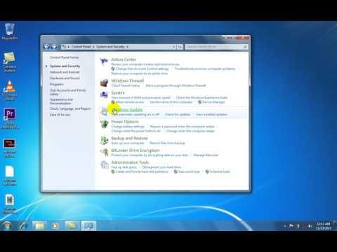 Turn off Windows updates in windows 7