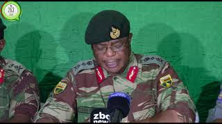 Breaking:Army Commander General Chiwenga press conference on latest Developments